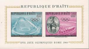 Haiti - 1960 Rome Olympics - Stamp Souvenir Sheet - Scott #C165a
