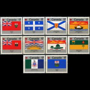 CANADA 1979 - Scott# 821-32 Prov.Flags 17c NH