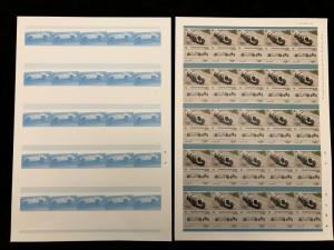 St Vincent Racing Cars Format Imperf Colour Proof Error Sheets MNH x 20 (KR132