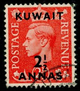 KUWAIT SG88, 2½a on 2½d pale scarlet, FINE USED.