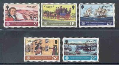 Jersey Sc 310-14 1983 Communications Yr stamps mint NH