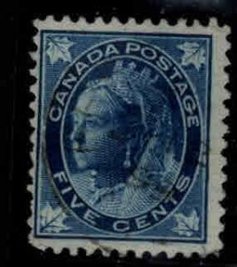 CANADA Scott 70 Used 1897 5c Victoria Lightly canceled