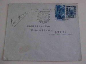 LIBYA MIXED 1933 TRIPOLI B/S ITALY TO LIETH