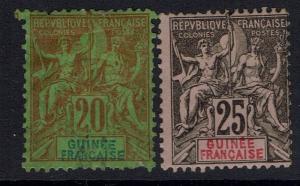 French Guinea SC# 9 & 10 - Mint Hinged (Hinge Rems / 10 Part OG) - 060516