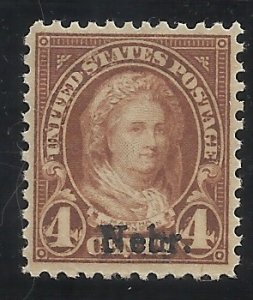 673  4c Nebr Overprint  MNH VF Centering