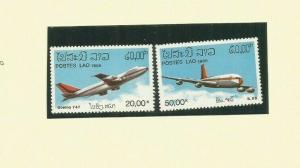 LAOS 1974 AIRPLANES SCOTT 2120-1 MNH
