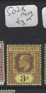 CAYMAN ISLANDS (P1111B)   KE  3 D  SG   28     MOG