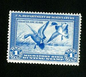 US Stamps # RW1 VF OG NH Fresh Catalog Value $750.00