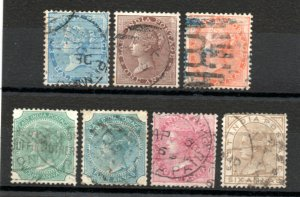 India - (7) Queen Victoria/ all wmk 13 - elephant     -    Lot 0920124