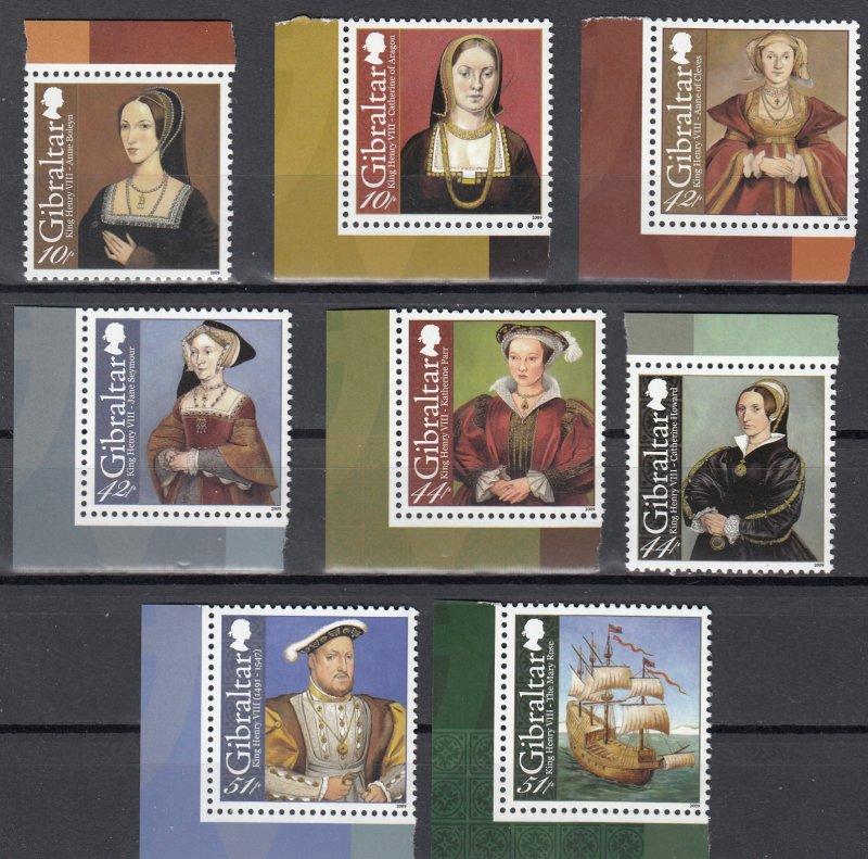 Gibraltar MNH 1173-80 King Henry VIII 2009