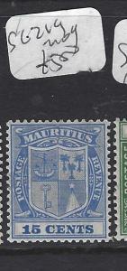 MAURITIUS   (P0810B)  ARMS 15 C  SG 219     MOG