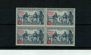 1959 Norfolk Island Birth of the Post Office Block Of 4 MUH