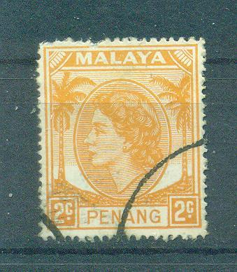 Malaya - Penang sc# 30 used cat value $.50