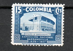 J26941 1937 colombia mh part of set #449 sports