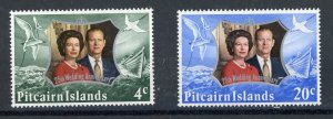 Pitcairn Islands 127-28 MH 1972