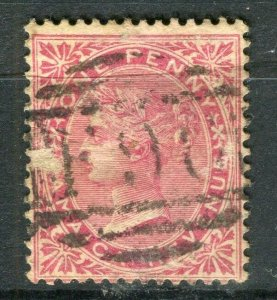 JAMAICA; 1890s early classic QV Revneue issue fine used 1d. value, Postmark F96