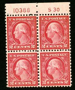 US Stamps # 540 VF OG NH S30 PB of 4 Fresh Scott Value $175.00