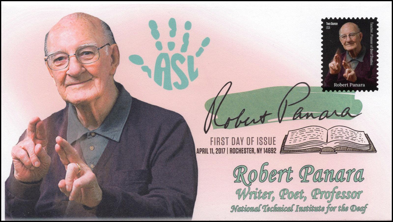 17 088 2017 Robert Panara Writer Poet Educator FDC DCP