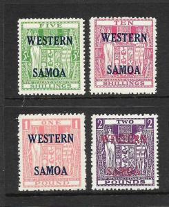 SAMOA  1955    ARMS  SET 4   MNH  SG 232/35
