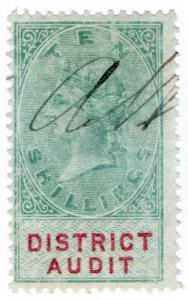 (I.B) QV Revenue : District Audit 10/- (1879)