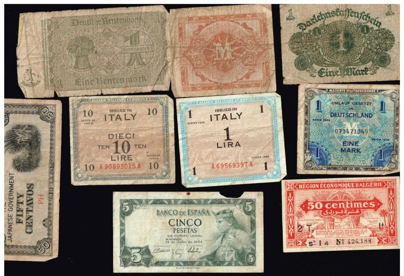 WORLDWIDE PAPER MONEY BANK NOTE COLLECTION LOT  F5