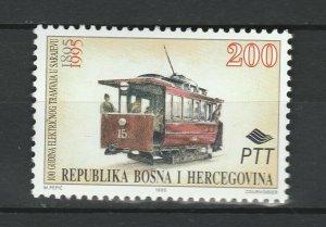 Bosnia and Herzegovina 1995 Tramway / Railway MNH stamp