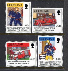 Gibraltar 516-519, MNH  1990 Fire Trucks. x29980
