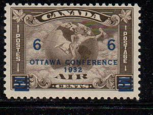 Canada Sc C4 1932 6c on 5c Ottawa Conf Airmail stamp mint NH