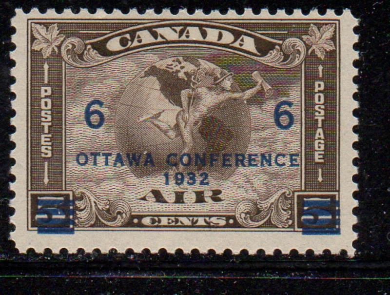 Canada Sc C4 1932 6c on 5c Ottawa Conf Airmail stamp mint NH