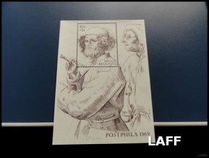 Belgium - Arts - Mini Sheet MNH