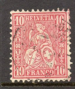 Switzerland 1860s Early Issue Fine Used 10c. Sitting Helvetia 121152