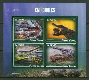 SIERRA LEONE 2019  CROCODILES  SHEET MINT NEVER HINGED