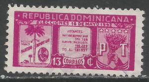DOMINICAN REPUBLIC 395 VFU Z1382-4