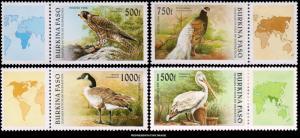 Burkina Faso Scott 1087-1090 Mint never hinged.