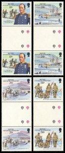 British Antarctic Territory 1987 Scott #137-140 Gutter Pairs Mint Never Hinged