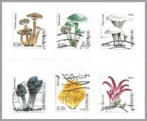 LUXEMBOURG 2004 - Mushrooms set of 6 from booklet - used