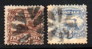 U.S. #113 & 114 SCV $96.00   ⭐⭐⭐⭐⭐