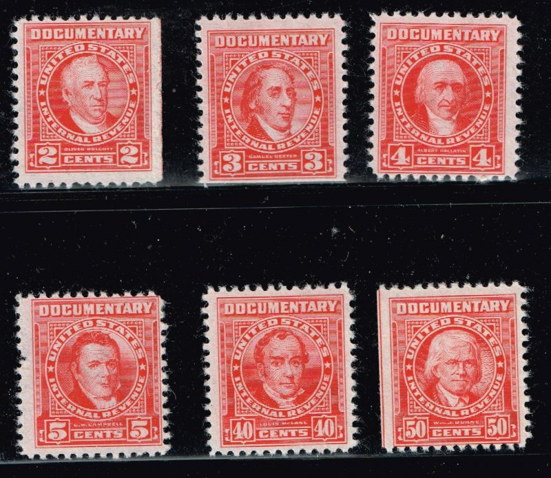 US STAMP BOB REVENUE DOCUMENTARY MNH STAMPS COLLECTION LOT #1