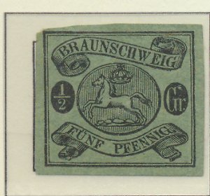 Brunswick (German State) Stamp Scott #6, Unused, No Gum, Large Margins