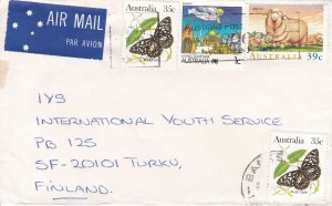 APH483) Australia 1989 Small airmail cover to Finland