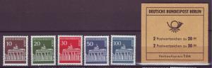 J20711 Jlstamps 1966-70 berlin germany set mnh #9n251-5 +9n252a bklt