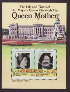 1985 Br Virgin Is Queen Mother MS U/M