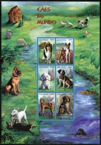 MOZAMBIQUE DOGS OF THE WORLD SET OF TWO SHEETS MINT NH