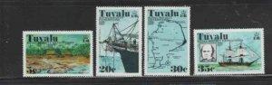 TUVALU #54-57 1977 ROYAL SOCIETY OF LONDON MINT VF LH O.G