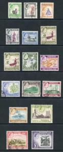 Rhodesia and Nyasaland SG18/31 1959 set of 15 fine used