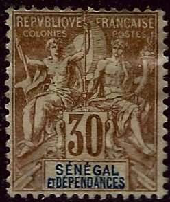 Senegal Sc #47 Mint OG F-VF...French Colonies are Hot!