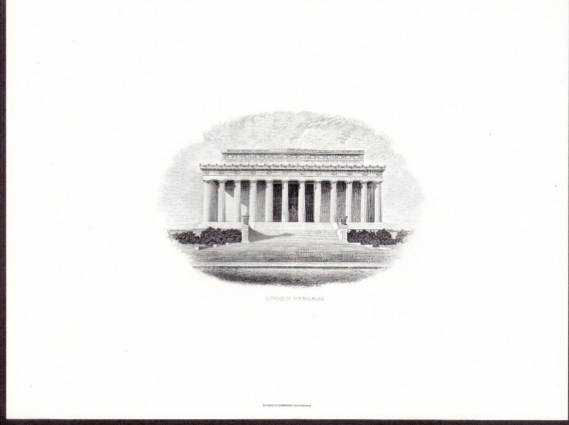 US BEP Engraved Cards lot of 13 Different Historic Buildings