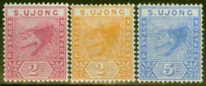 Sungei Ujong 1891-94 set of 3 SG50-52 Fine & Fresh Lightly Mtd Mint
