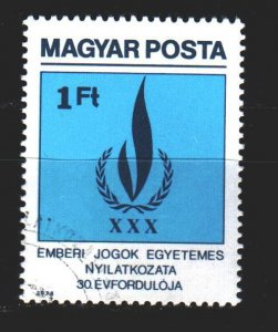 Hungary. 1979. 3334. 30 years of the declaration of human rights. USED.