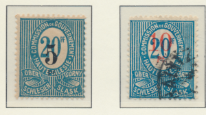 Upper Silesia Stamps Scott #11 Mint Hinged and 12 Used - Free U.S. Shipping, ...
